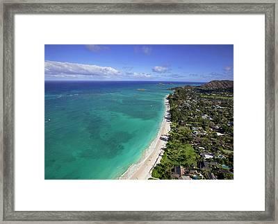 Kailua Beach, Oahu, Hawaii Framed Print by Douglas Peebles