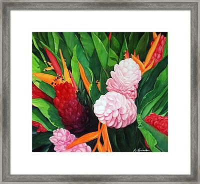 Kailua Farmer's Market Framed Print by Luane Penarosa