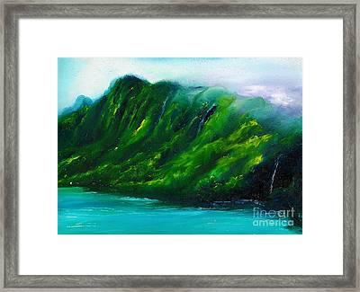 Kailua Hawaii Framed Print by Donna Chaasadah