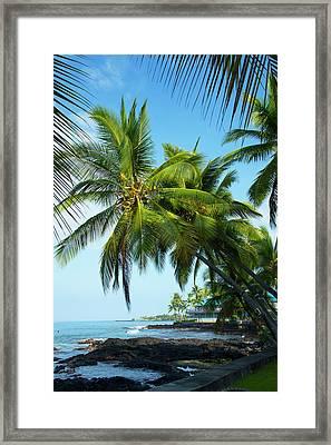 Kailua-kona, Big Island, Hawaii Framed Print by Douglas Peebles