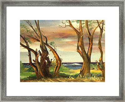 Kaina Point - Oahu Hi. Framed Print