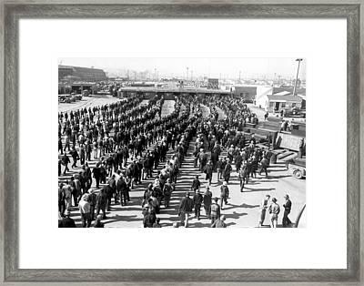 Kaiser Shipyard Workers Framed Print