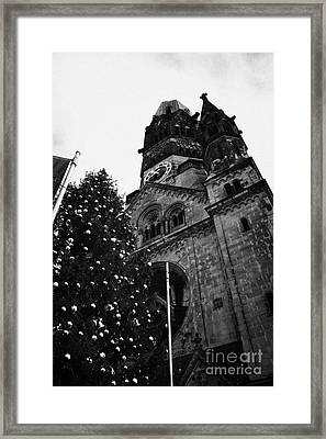 Kaiser Wilhelm Gedachtniskirche Memorial Church And Christmas Tree Berlin Germany Framed Print by Joe Fox