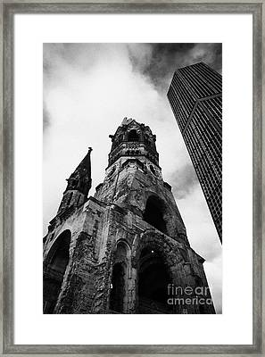 Kaiser Wilhelm Gedachtniskirche Memorial Church Next To The New Church Berlin Germany Framed Print by Joe Fox