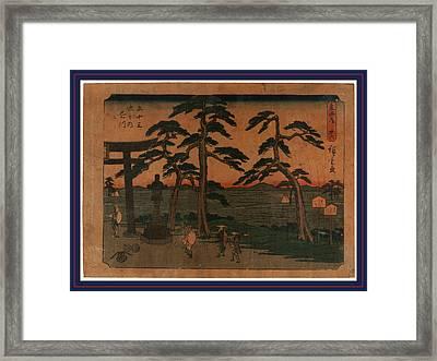 Kakegawa, Ando Between 1848 And 1854, 1 Print  Woodcut Framed Print by Utagawa Hiroshige Also And? Hiroshige (1797-1858), Japanese