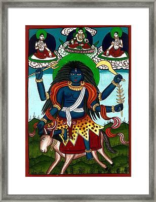 Kal Ratri Framed Print