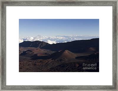 Kalahaku Overlook Haleakala Maui Hawaii Framed Print