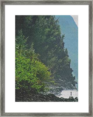 Framed Print featuring the photograph Kalalau Coast by Roselynne Broussard
