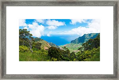 Kalalau Valley  Framed Print by Adam Pender