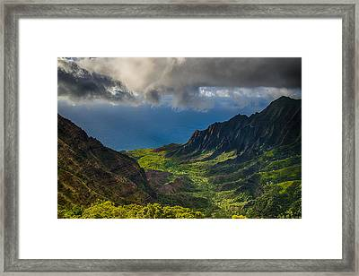 Kalalau Valley Framed Print by Ian Stotesbury