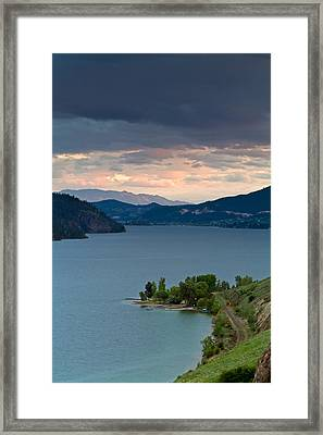 Kalamalka Lake Storm Clouds Framed Print by Michael Russell
