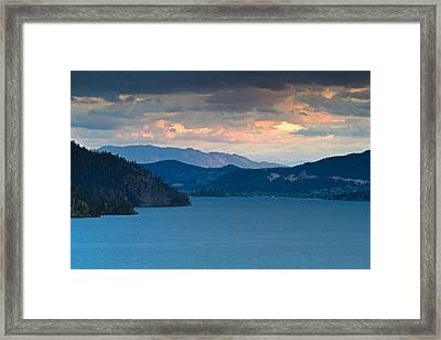 Kalamalka Lake Sunset Framed Print by Michael Russell