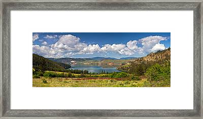 Kalamalka Provincial Park Panoramic Framed Print by Michael Russell