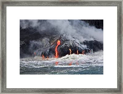 Lava Falls At Kalapana Framed Print