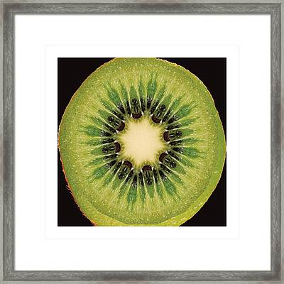 Kaleido Kiwi Fruit Framed Print