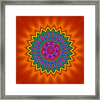 Kaleidoscope 1 Bright And Breezy Framed Print by Faye Symons