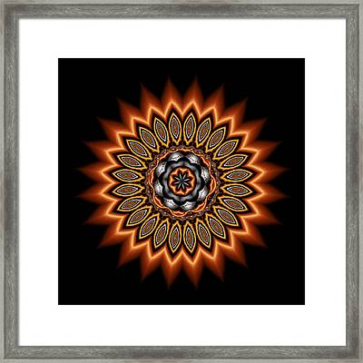 kaleidoscope 1 in Precious Metals Framed Print by Faye Symons