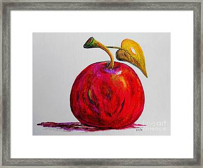 Kaleidoscope Apple -- Or -- Apple For The Teacher  Framed Print by Eloise Schneider