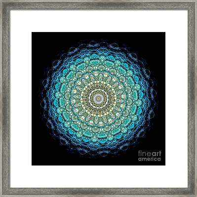 Kaleidoscope Aquamarine Bubbles Framed Print by Amy Cicconi