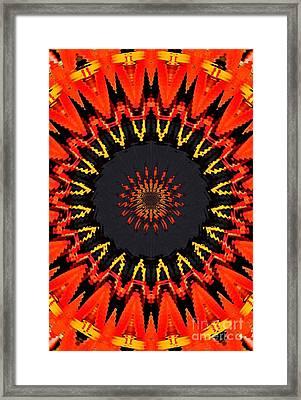 Kaleidoscope Aztec Framed Print