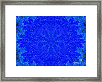 Kaleidoscope Blues Framed Print by Suzanne Handel