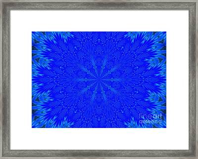 Kaleidoscope Blues Framed Print