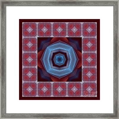Kaleidoscope Combo 8 Framed Print by Louise Lamirande
