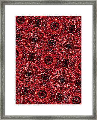 Kaleidoscope Cranberries Framed Print