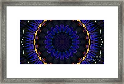 Kaleidoscope Feathers Framed Print by Suzanne Handel