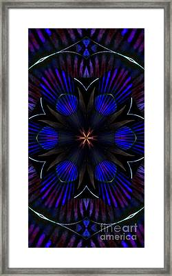 Kaleidoscope Feathers Three Framed Print by Suzanne Handel