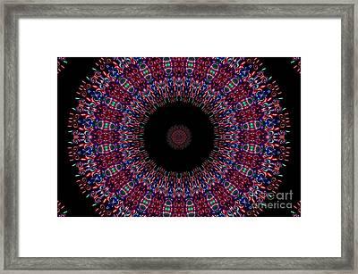 Kaleidoscope Fireworks Framed Print