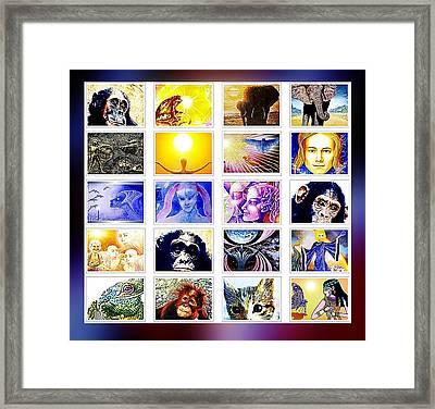 Kaleidoscope Framed Print by Hartmut Jager