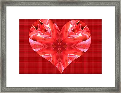 Kaleidoscope Heart Framed Print