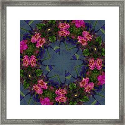 Kaleidoscope Lantana Wreath Framed Print by Cathy Lindsey