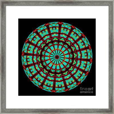 Kaleidoscope Of A Neon Sign Framed Print by Amy Cicconi
