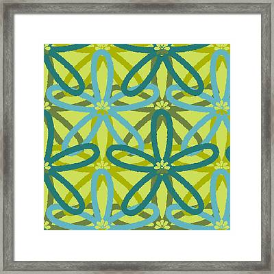 Kaleidoscope Of Flowers Framed Print