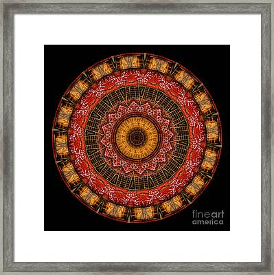 Kaleidoscope Of Graffiti Wall On Building Framed Print