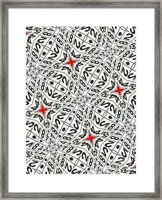 Kaleidoscope Random Numbers Framed Print by Amy Cicconi