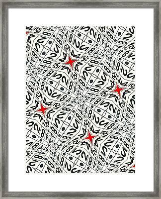 Kaleidoscope Random Numbers Framed Print