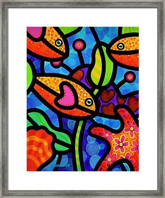 Kaleidoscope Reef Framed Print by Steven Scott