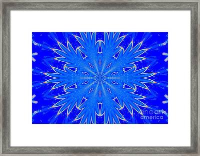 Kaleidoscope Snowflake Framed Print
