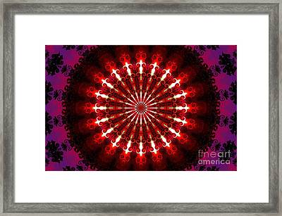 Kaleidoscope Sunset Framed Print by Suzanne Handel