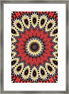 Kaleidoscope Torch Framed Print by Suzanne Handel