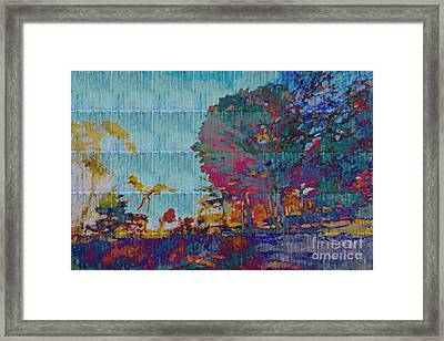 Kaleidoscopic Autumn Scene IIi Framed Print