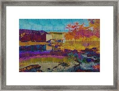 Kaleidoscopic Autumn Scene V Framed Print by Beverly Claire Kaiya