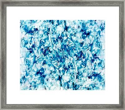 Kaleidoscopic Pattern In Green, Blue Framed Print