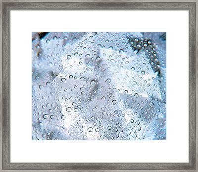 Kaleidoscopic Pattern In Purple Framed Print