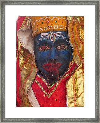 Kali Maa - Glance Of Compassion Framed Print