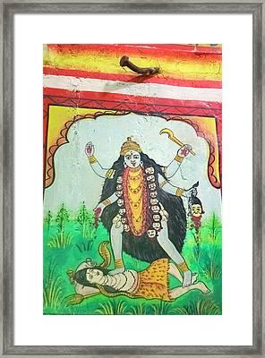 Kali, Shree Laxmi Narihan Ji Hindu Framed Print by Inger Hogstrom