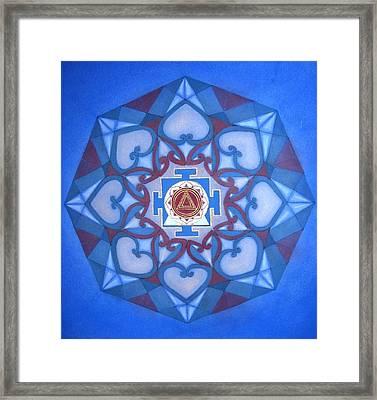 Kalima Mandala Framed Print